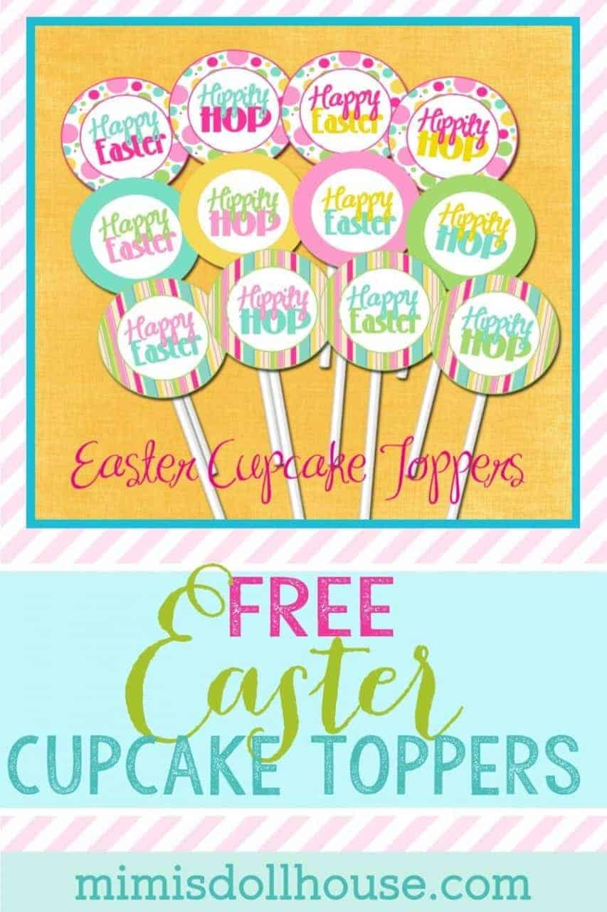Want some FREE EASTER CUPCAKE TOPPERS??? Easter: FREE Easter Cupcake Toppers.  Today I'm sharing some springy fun, and FREE Easter Cupcake Toppers. Be sure to check out all of our Easter Ideas and Inspiration.