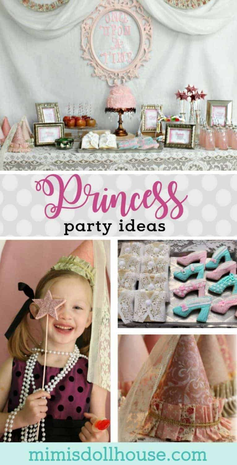 Vintage Princess Party: Tessa's Pretty Princess Party. Pretty floral and lace galore...celebrate your little princess with a beautiful princess party! Today I'm sharing a sweet and feminine princess party with amazing princess party ideas! Be sure to check out all of our princess party inspiration!