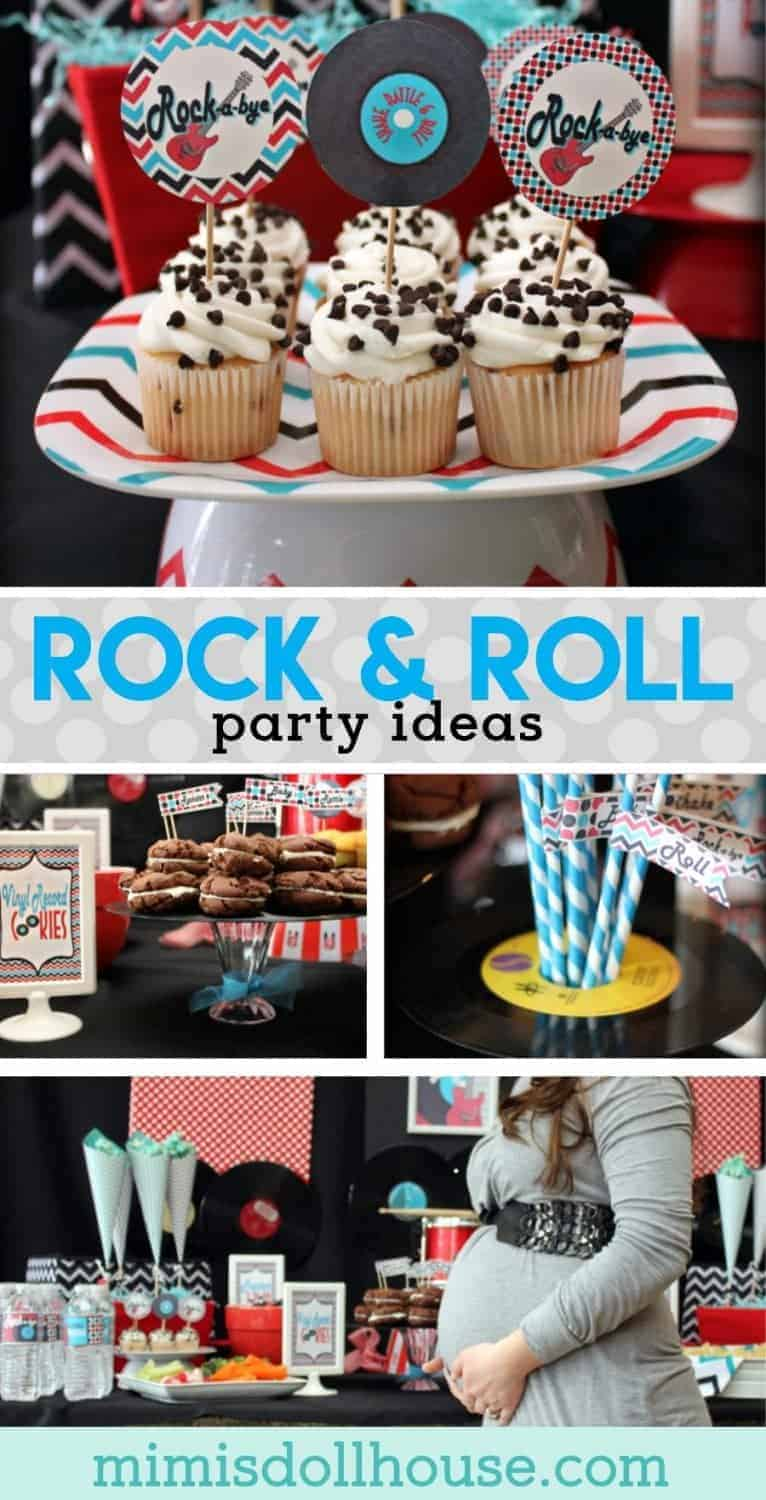 Throwing a baby shower?  How about having a rocking good time with this rock & roll baby shower.  This rock n roll shower is full of rock party ideas