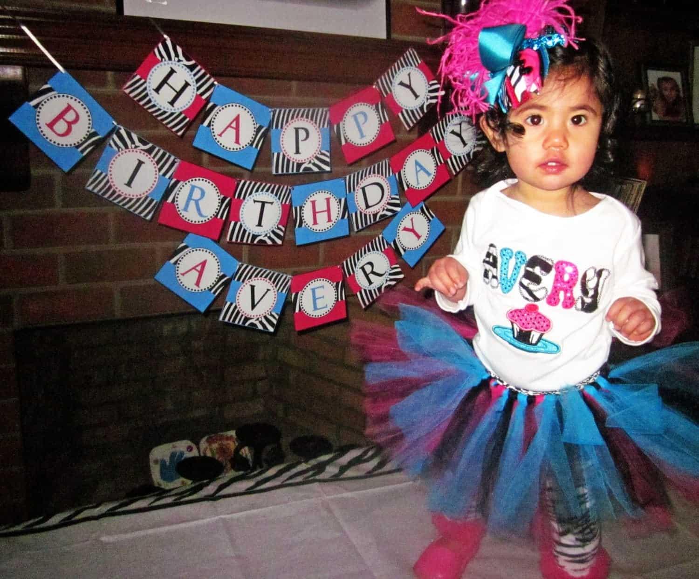 Zebra Party Decorations: Avery's Wild 1st Birthday Party