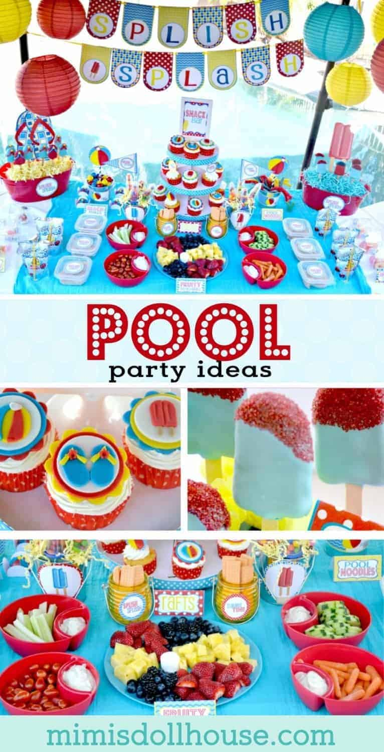 Pool Party: Splish Splash School's Out Party. Dive into the fun with some Summer Pool Party ideas. Be sure to check out all of our Pool Party Ideas as well as all our Beach Party Ideas and Under the Sea Ideas.
