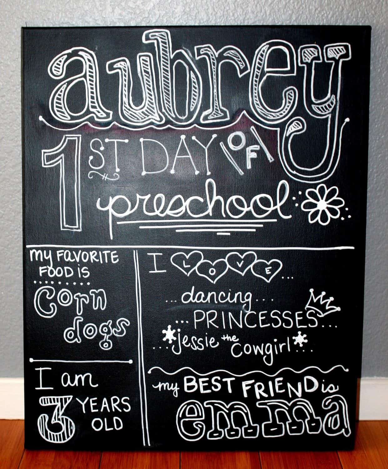 Back to School: Aubrey's First Day of School Sign Tutorial