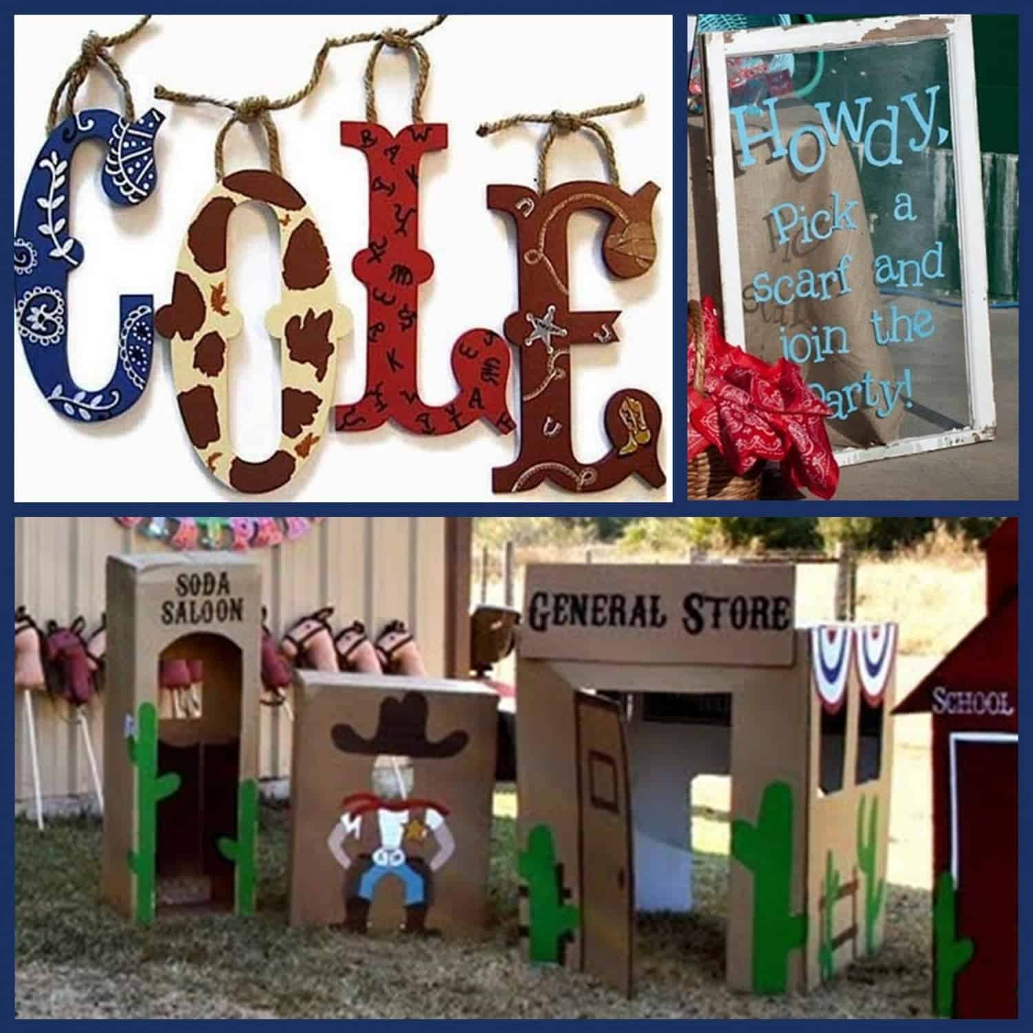Cowboy Party Wild And Western Party Ideas Mimi S Dollhouse