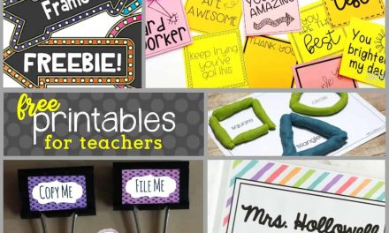 Back to School: FREE Printables for Teachers