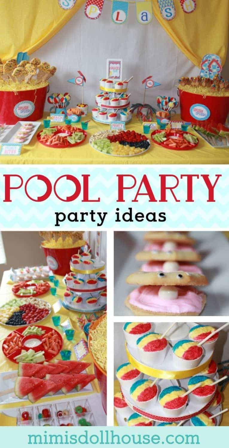 Summer Pool Party Ideas: Splish Splash Bash. Dive into the fun with some Summer Pool Party ideas. What's better for summer than some fun in the pool? Be sure to check out all of our Pool Party Ideas as well as all our Beach Party Ideas and Under the Sea Ideas.
