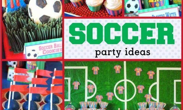 Soccer Party: Matthew's Team Barcelona Birthday
