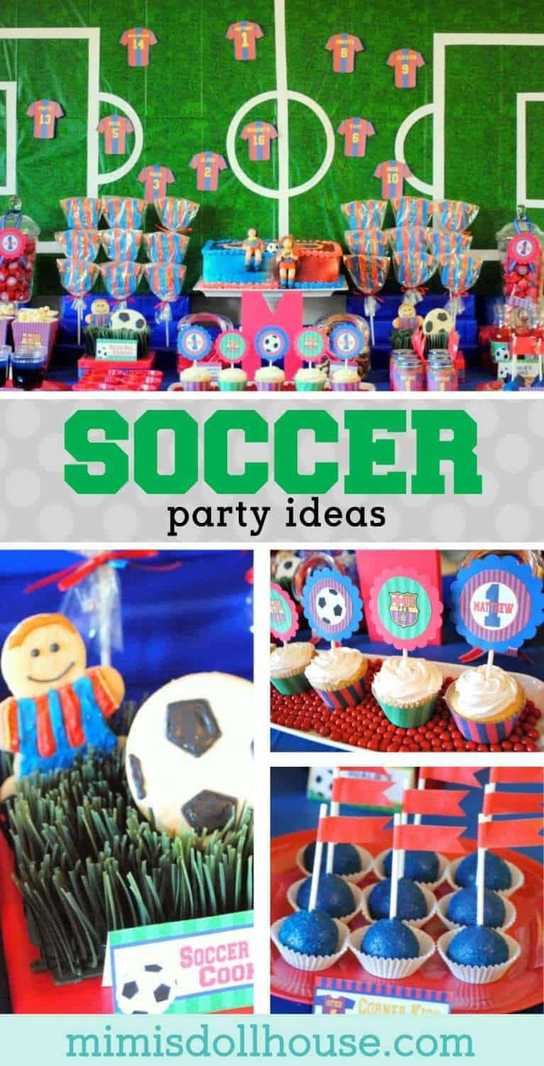 Soccer Party: Matthew's Team Barcelona Birthday. GOAL!! Looking for soccer party inspiration? This party is fun, colorful and full of awesome soccer treats! Be sure to also check out our other sports party ideas!!