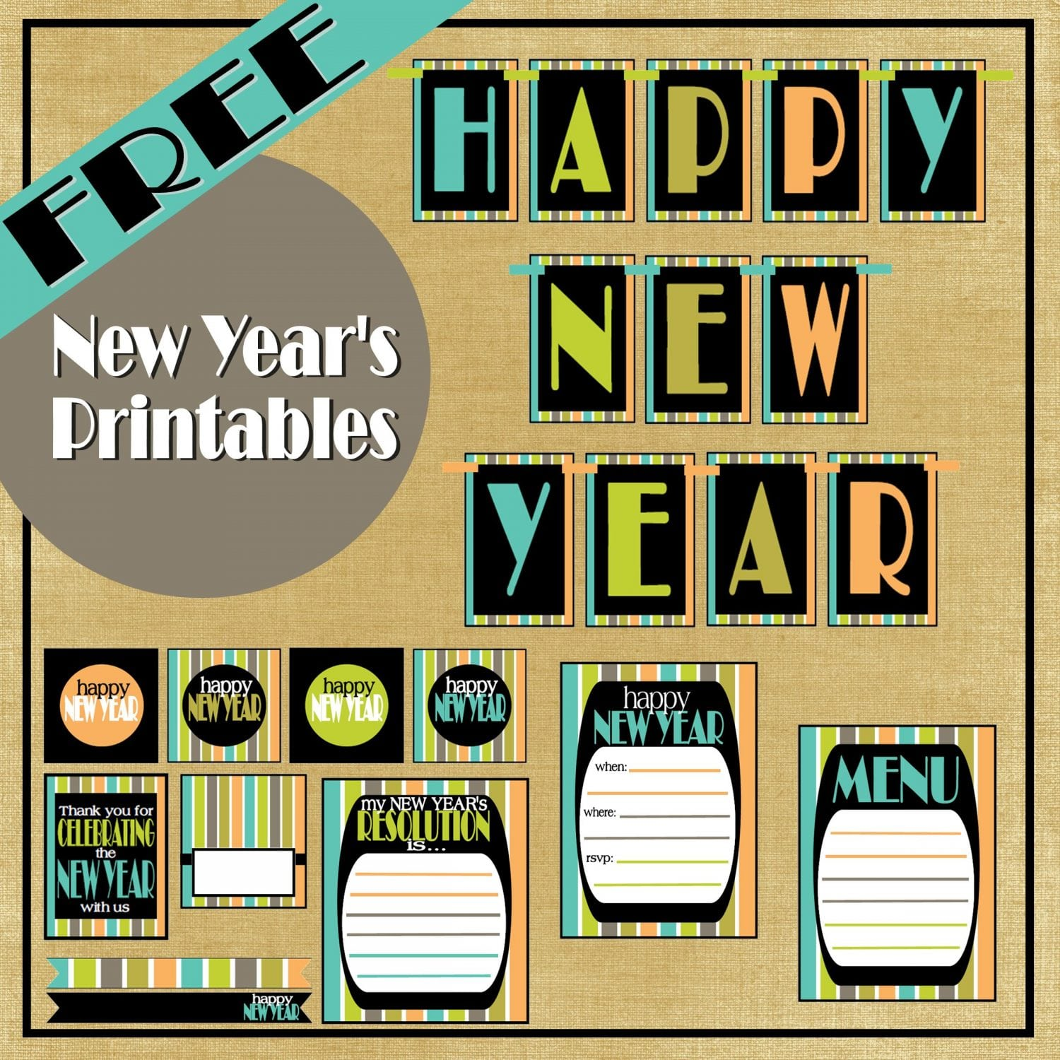 New Year's Party: FREE New Year Printables