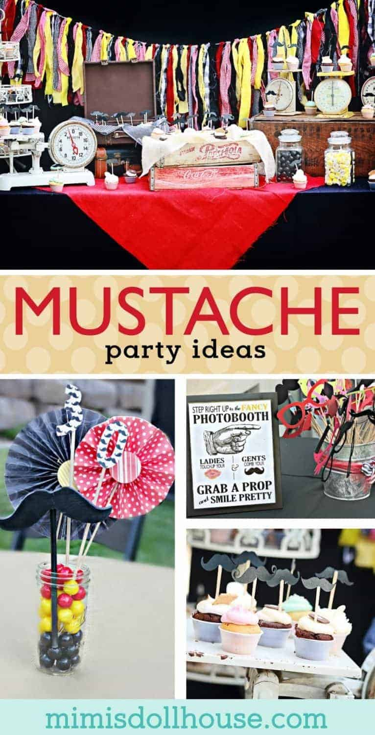 Mustache Party: It's A Mustache Bash I mustache you if you're ready to party!! Looking for mustache party inspiration? This party is fun, colorful and full of 'stache! Be sure to also check out our other mustache party ideas!!