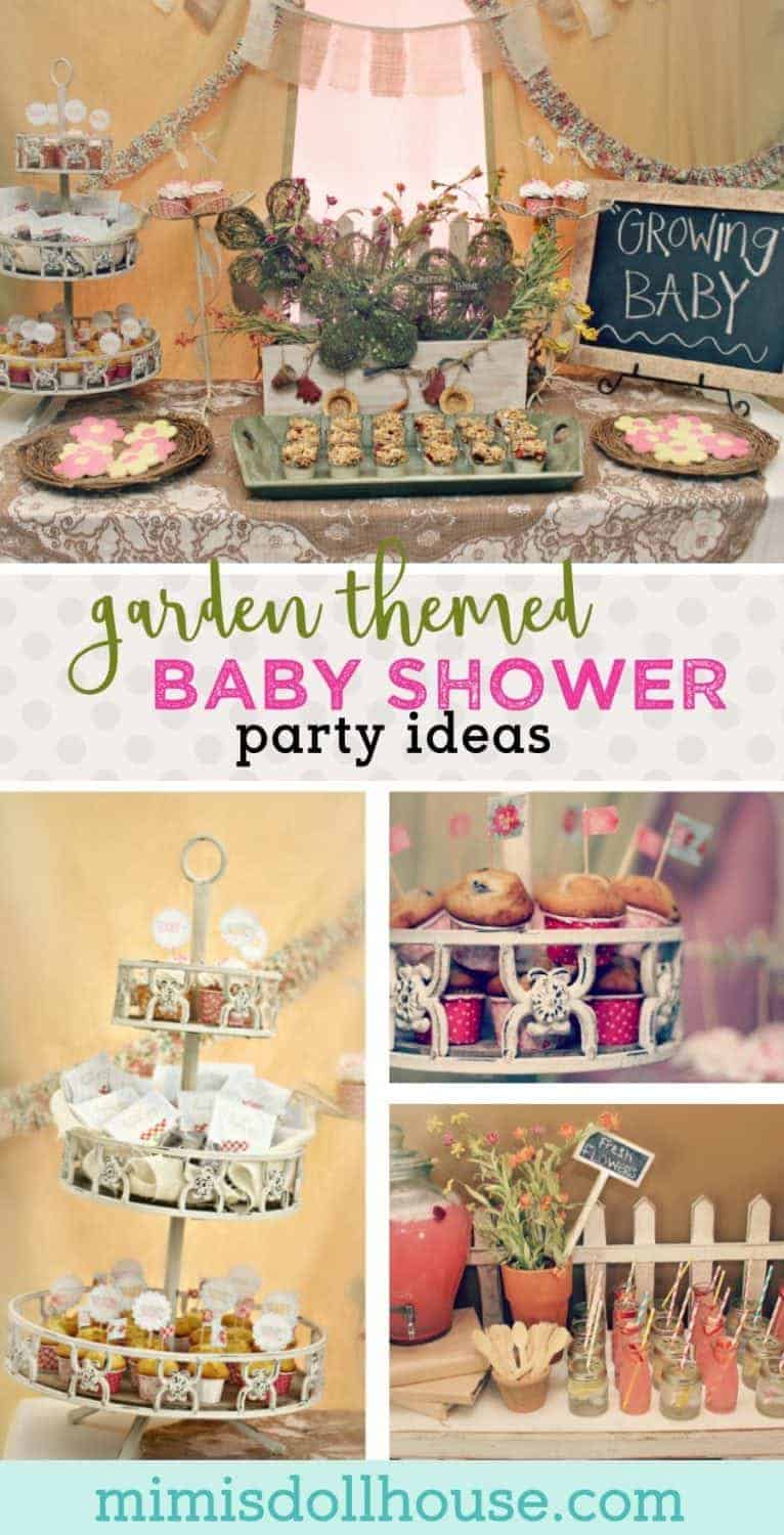 Garden Baby Shower: Madeline's Growing Belly.  Looking for a fun spring time baby shower theme?  Celebrate a