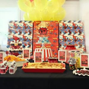 Superhero Party: Brock's Vintage Spiderman Party-Mimi's Dollhouse