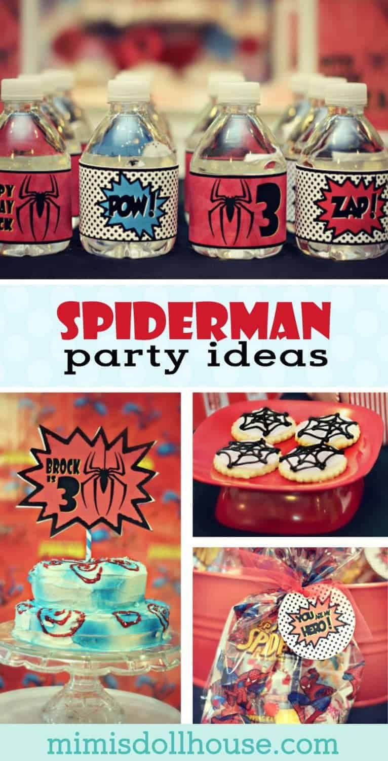 Superhero Party Brocks Vintage Spiderman Party Mimis Dollhouse