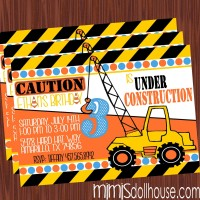 construction invitation display