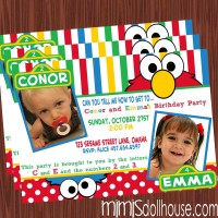 elmo f 2 kids invite
