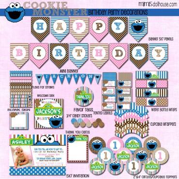girly cookie monster display file