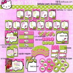 hello kitty display file lime