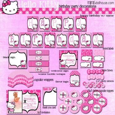 hello kitty display file pink