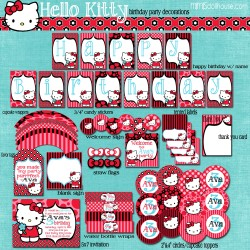 hello kitty display file red