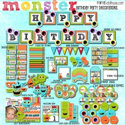 Monster Party Printable Collection