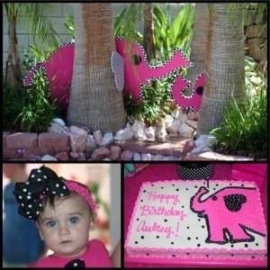 Elephant Party: Aubrey's Pink Polka Dot Elephant 1st-Mimi's Dollhouse