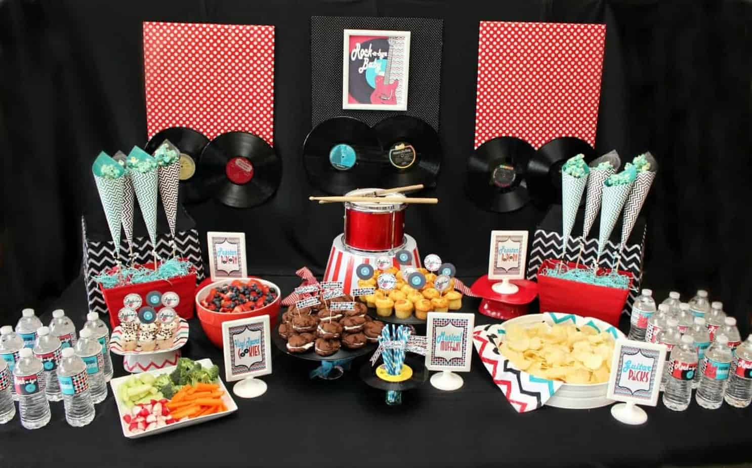 Vinyl Decoration Table : Rock and roll baby shower printable collection mimi s