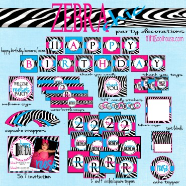 zebra party pic