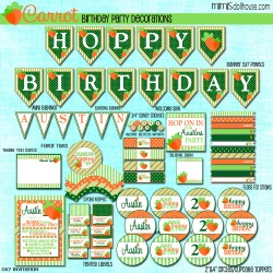 carrot birthday display