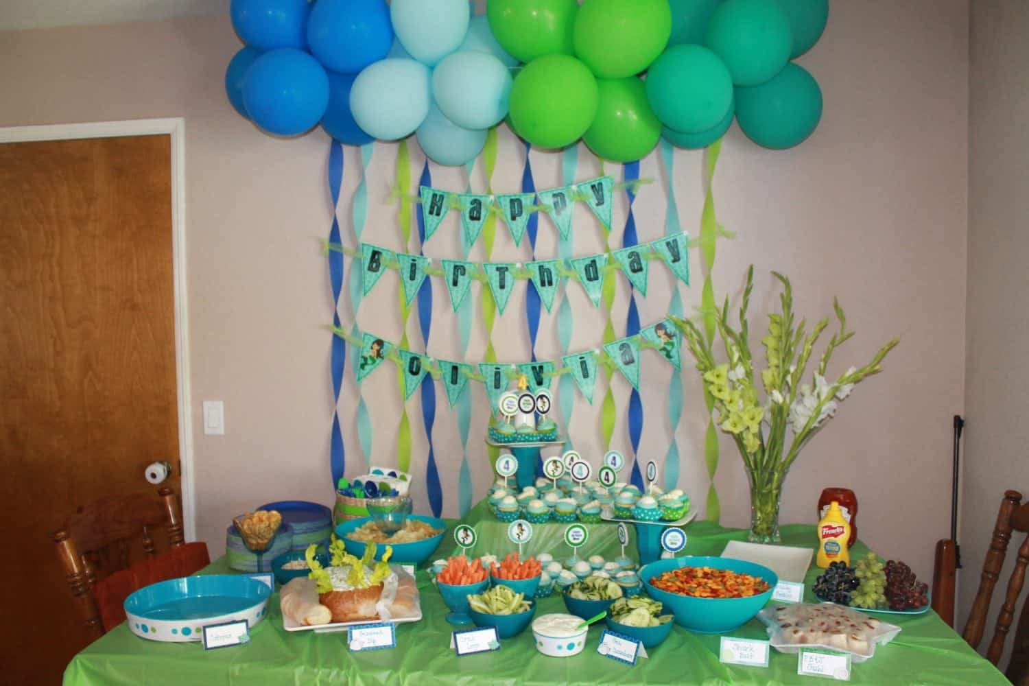 Cheap birthday party ideas at home image inspiration of for Home decorations for birthday party