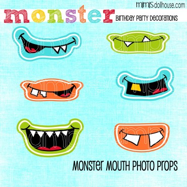 Monster Party: Monster Party Ideas and Crafts-Mimi's Dollhouse
