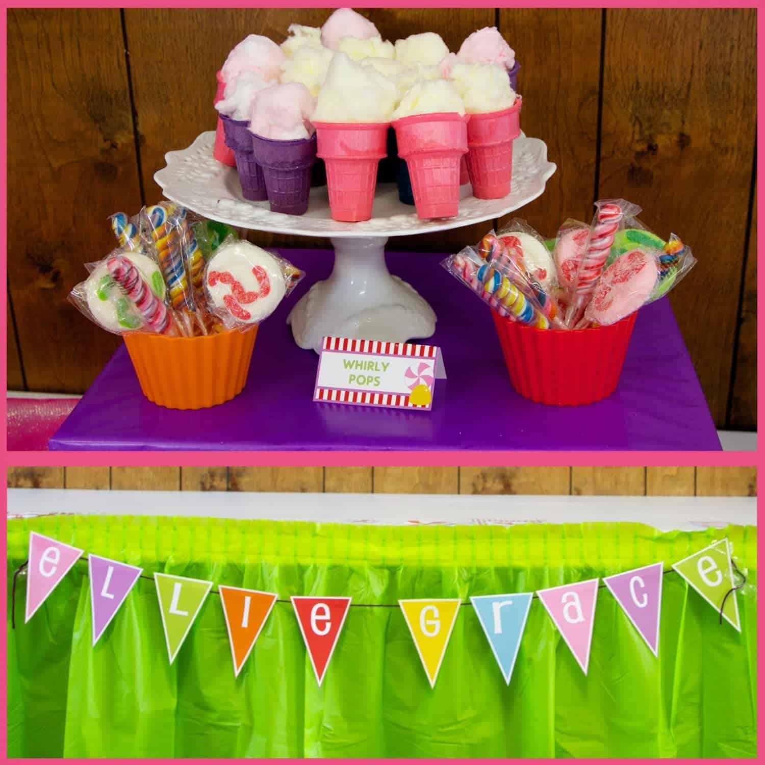 Candyland party ellie and amelia 39 s sweet event mimi 39 s dollhouse - Candyland party table decorations ...