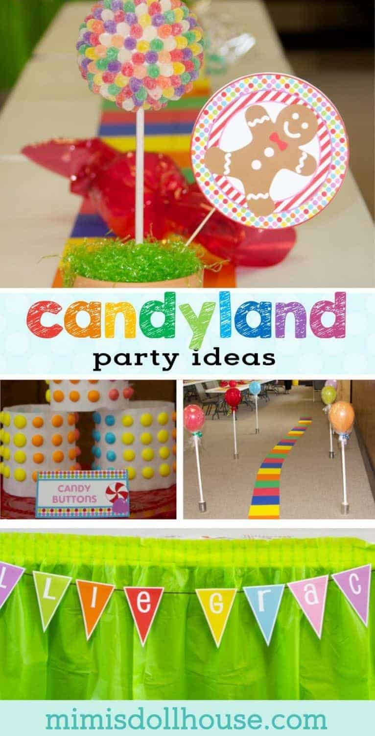 Candyland Party: Ellie and Amelia's Sweet Event. Through gumdrop trees and over chocolate rivers...it's a candy land party Be sure to check out all ourCandyland Party Ideas.