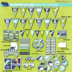 dinosaur display file-blue