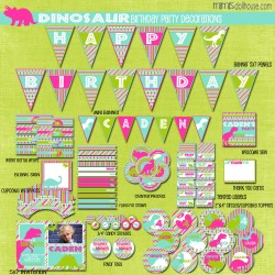 dinosaur display file-pink