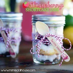 Strawberry Party: Strawberry Shortcake Jars-Mimi's Dollhouse