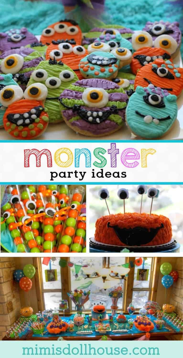 Monster Party: Scary Cute Monster Party.Looking for some amazingly cute inspiration for a monster birthday party? Want a way to celebrate your little monster in style? I have a monster party to share today that is scary cute!!