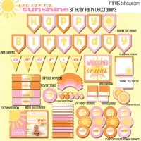 Sunshine Party: Sunshine Party Ideas-Mimi's Dollhouse
