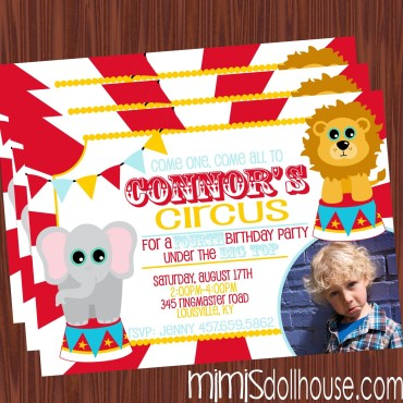 Cute Circus Invite Display