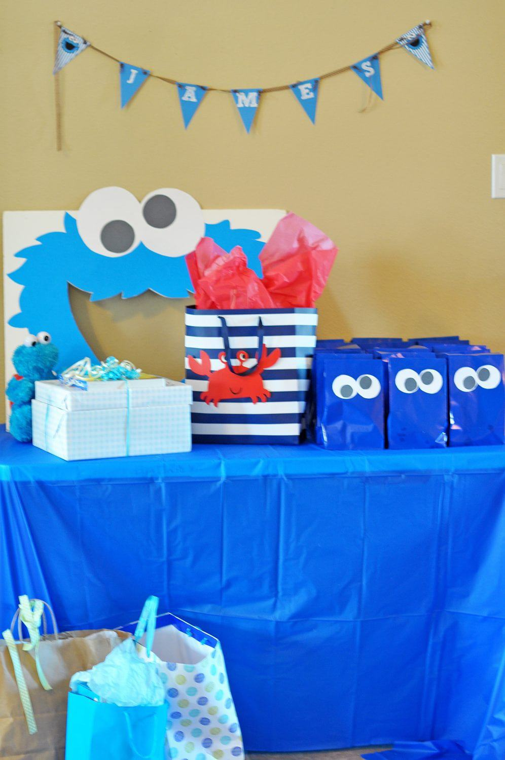 Sesame Street Party James Cookie Monster First Birthday Bash