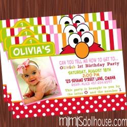 Elmo Pink Invite Display