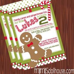 Gingerbreadman invite display