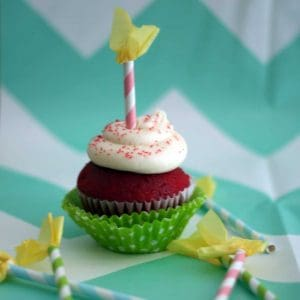 Paper Straw Candle Cupcake Toppers Tutorial-Mimi's Dollhouse