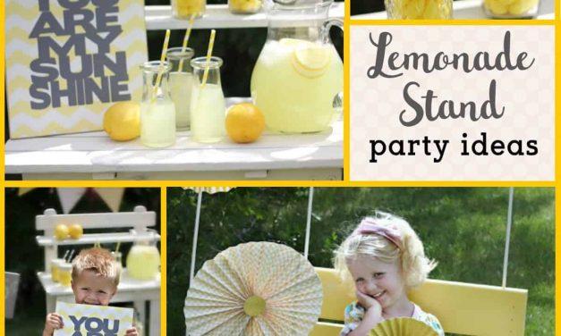 Lemonade Party: Pretty Lemonade Stand
