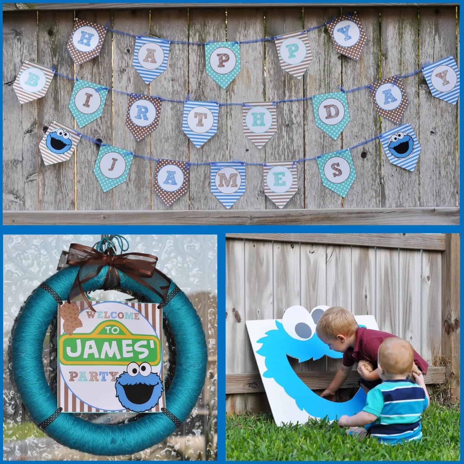 Sesame Street Party: James' Cookie Monster First Birthday Bash