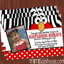 elmo zebra invite