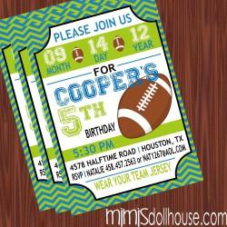 football invite display