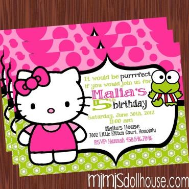 lime hello invite display no pic
