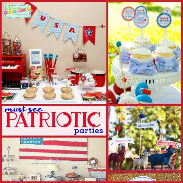 Need some Fourth of July party or Memorial day party ideas? Here are 8 must see patriotic parties to excite your red, white and blue. Fourth of July food, Fourth of July decorations, and more!