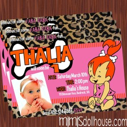 pebbles pink display invite