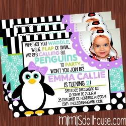penguin invitation lavlime