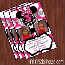 pink minnie invite display pic